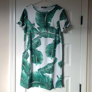 Shein Palm Leaf Dress